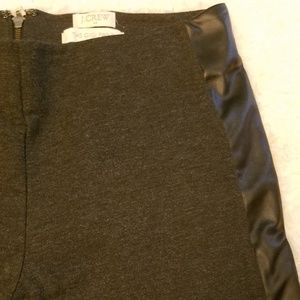 Jcrew the GiGi pant size 2with faux leather side